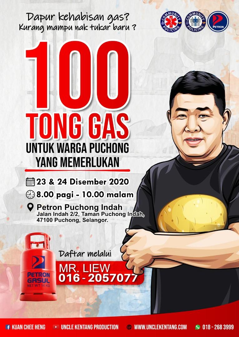 Pemberian 100 Tong Gas Masak Percuma Untuk Asnaf